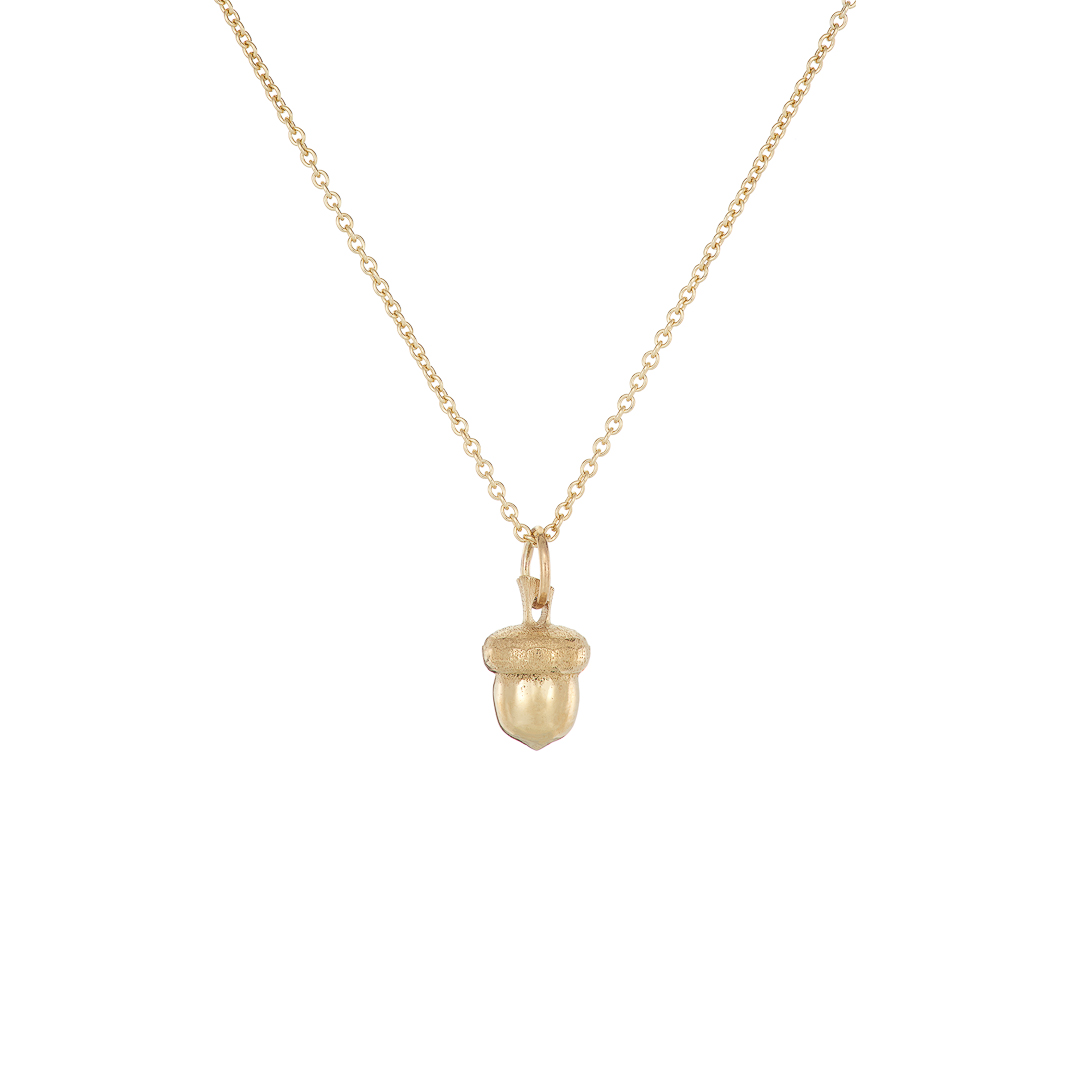 Acorn pendant, small, 9ct yellow gold