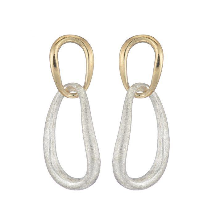 Ellipse double drop earring