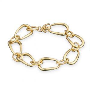 Ellipse Bracelet 9ct Yellow Gold