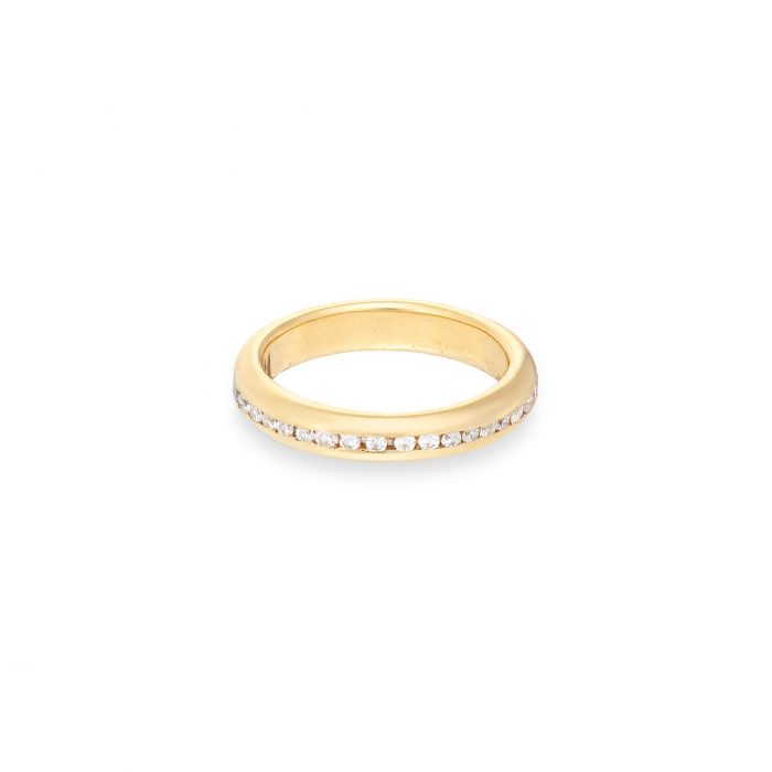 full eternity ring diamond 18ct yellow gold