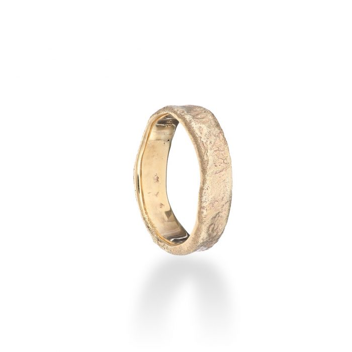 Reticulated ring 9ct yellow gold