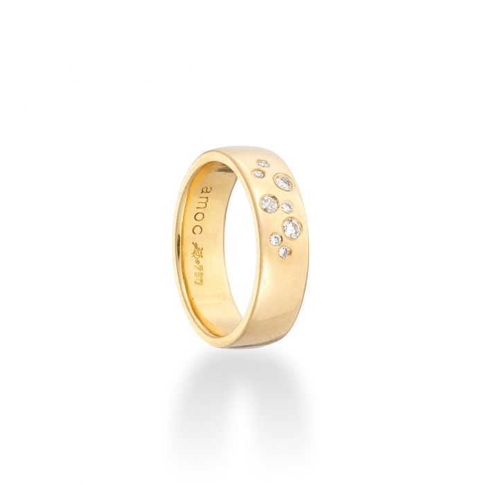 Stardust ring diamonds in 18ct yellow gold