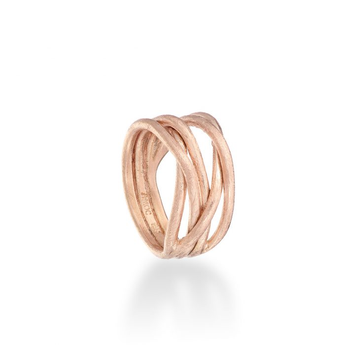 Wrap ring 9ct rose gold