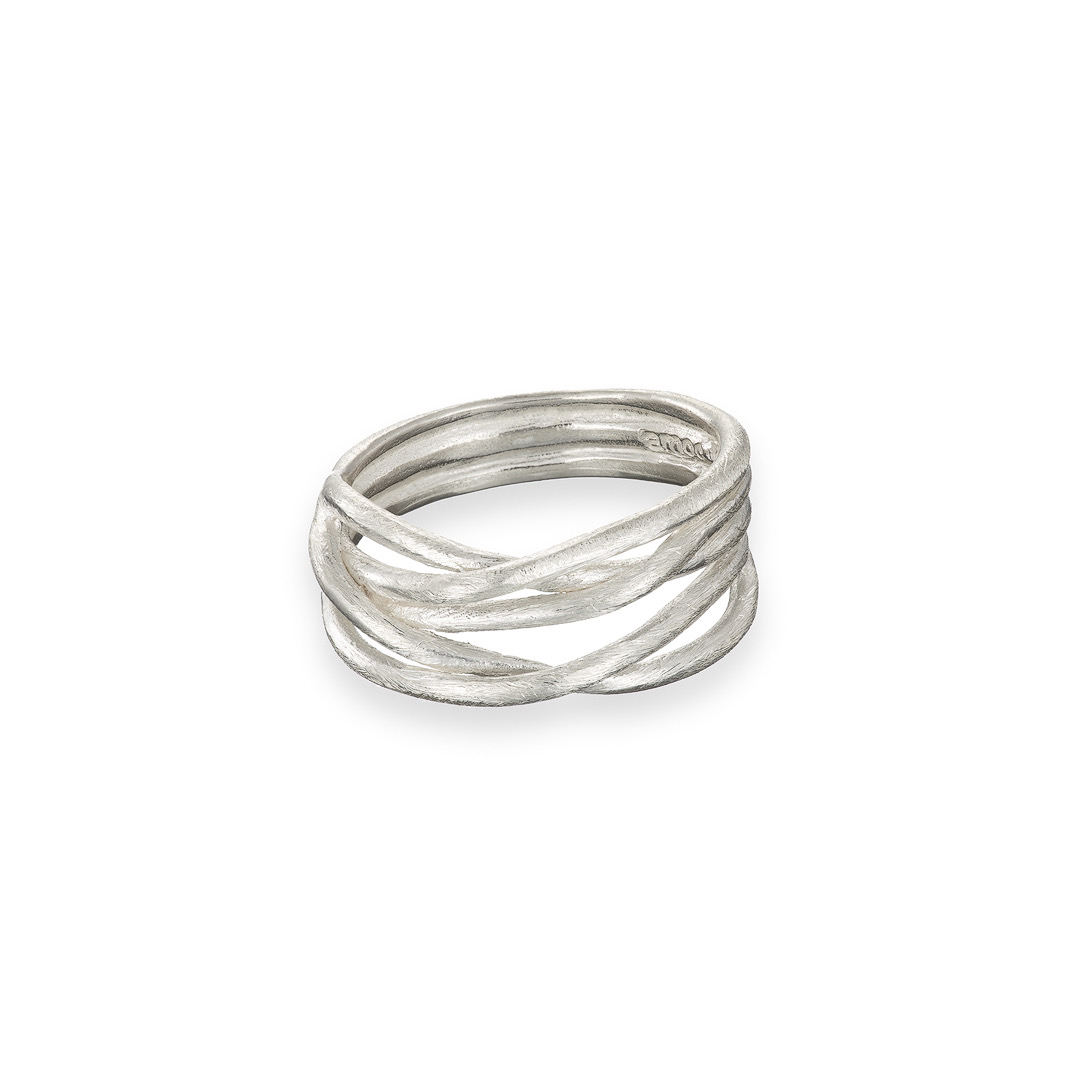 Wrap ring 9ct white gold