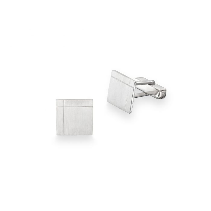 Square engraved cufflinks