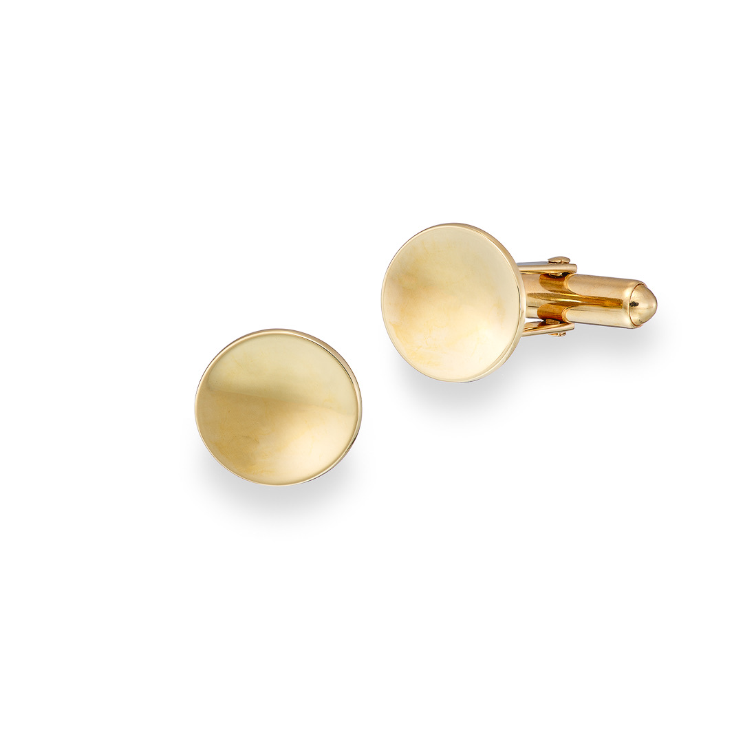Dish Cufflinks 9ct yellow gold