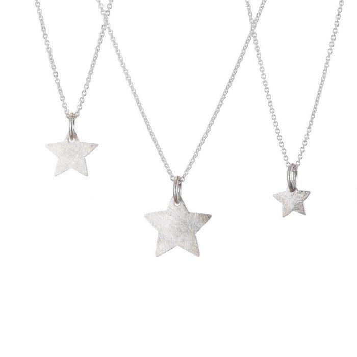 Star Pendants Silver