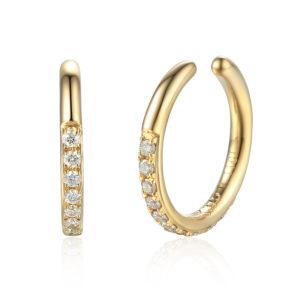 Ear Cuff, yellow gold and diamond 2/3 set